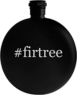 #firtree - 5oz Hashtag Round Alcohol Drinking Flask, Black