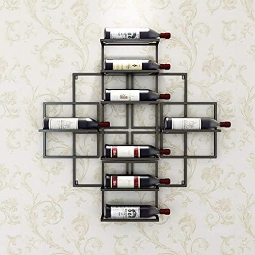 COLiJOL Estante para Vino Compartimentos Separados Soporte para Exhibición de Vino Botellas de Vino Soporte para Botella de Metal Hierro,# 2