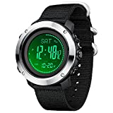 Military Watches with Compass Altimeter Barometer Pedometer Thermometer, Outdoors Watch for Men