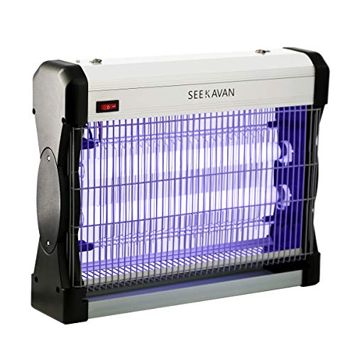 Seekavan Zanzariera Elettrica, Lampada Anti Insetti Anti Zanzare con Luce UV 20...