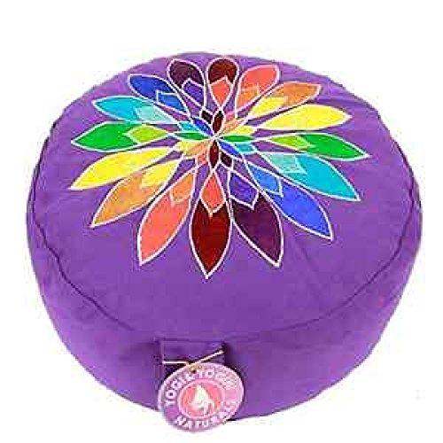 Panotophia Meditationskissen Chakra Yoga Kissen Multicolor-Bumenmotiv XL