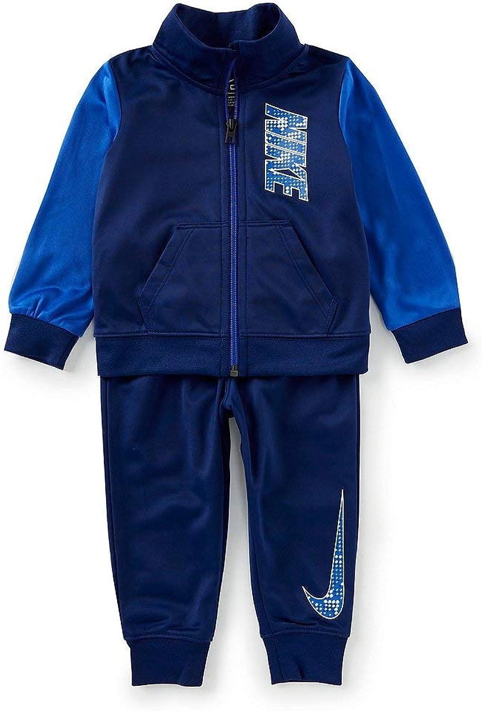 Nike Boy`sTherma DriFit 2 Piece Tracksuit (blueee Void(66E274U9J) White, 12 Months)