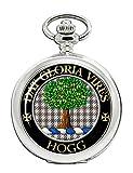 Hogg - Reloj de Bolsillo con Escudo del Clan escocés
