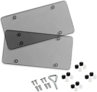 BLVD-LPF OBEY YOUR LUXURY Tinted Clear Smoked Unbreakable License Plate Shields - 2-Pack Novelty/License Plate Tint Smoke Flat Covers