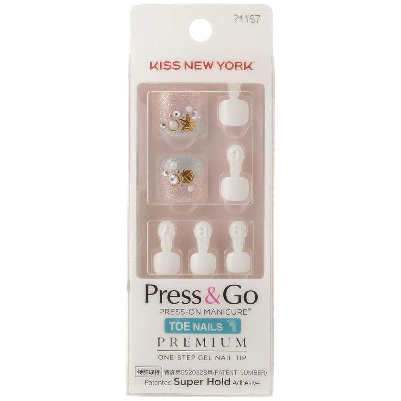 気配りのある壮大な有効化キスニューヨーク (KISS NEW YORK) KISS NEWYORK フットネイルチップPress&Go BHJT08J 18g