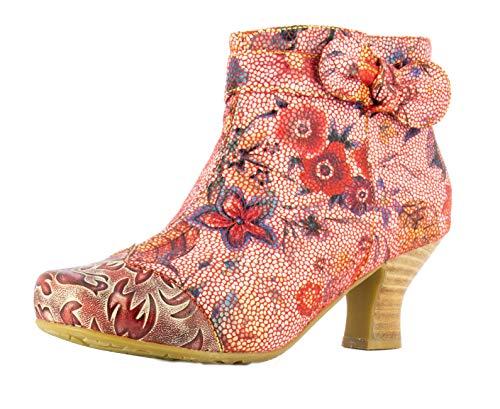 Laura Vita Cacndiceo 47 Damen Ankle Boots Stiefeletten, Größe:39 EU, Farbe:Rot