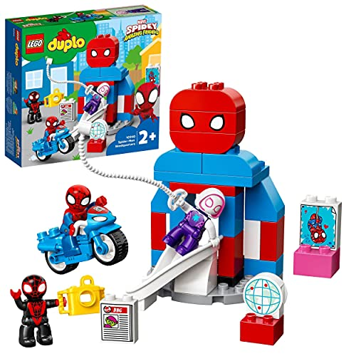 LEGO 10940 DUPLO Marvel Spider-Man Headquarters Building Toy for Toddlers...