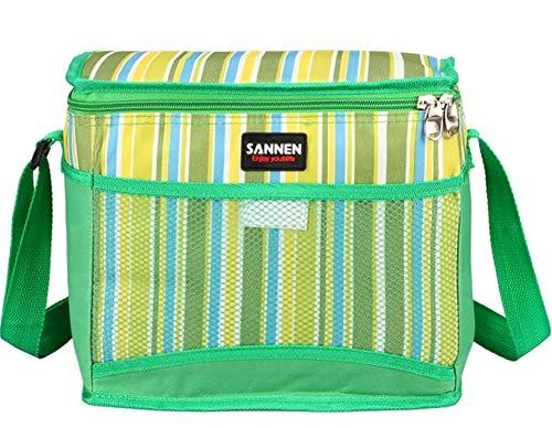 Grand repas paquet de déjeuner sac à bandoulière crossbody femmes enfant froid rangement sacs à bandoulière sac isotherme,Green