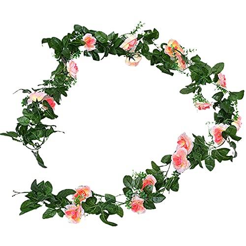CJFael Flores artificiales para colgar en la pared, decoración de plástico para bodas, fiestas, flores, hiedra, para ventana, jardín, boda, fiesta, champán