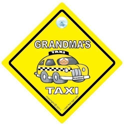 Grandma s Taxi, Grandma s Taxi voiture, voiture-mères Motif Taxi voiture, decalque Autocollant, voiture, Grand-Gran's Taxi, Plaque Bébéà bord, grands-Parents