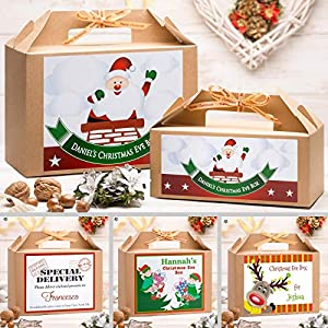 Personalised Christmas Eve Box  For All Ages | Gold Ribbon | 8 Fantastic Designs