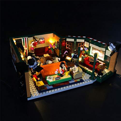 Lommer Jeu De Lumières pour Lego Central Perk Ideas, LED Kit Lumière Compatible avec Lego FRIENDS 21319 (Lego Modèle Non Incluse)