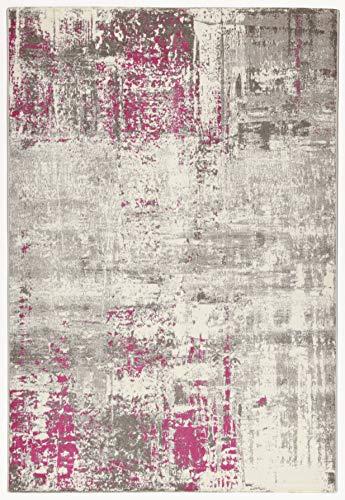 CarpetLiving.com – Alfombra Soho 2 Crudo/Fucsia | Alfombra moderna | Alfombras Decorativas | Alfombras de Diseño | Salón, Dormitorio, Cocina | 160 x 230 cm