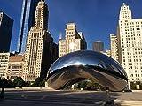 SHILIHOME Chicago Millennium Park DIY 5D Diamante Pintura por Número Kits Únicos Decoración De La Pared del Hogar Cristal Rhinestone Decoración De La Pared Punto De Cruz
