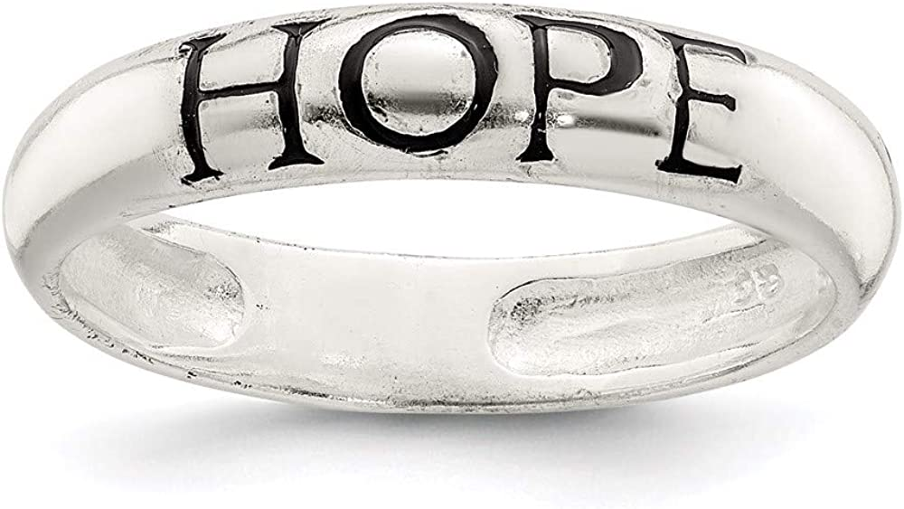 925 Sterling Silver All stores are sold Hope Max 90% OFF Band Ring Religious Jewelry For Wo Fine