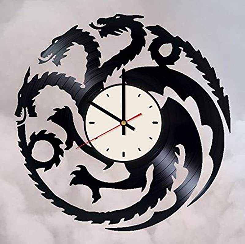 House Targaryen Vinyl Wall Clock Great House Unique Gifts Living Room Home Decor