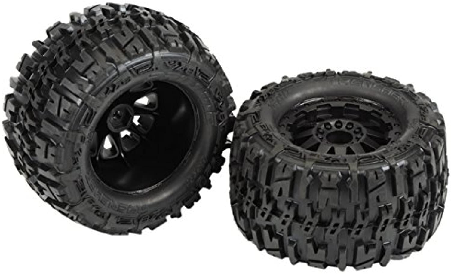 Proline 117015 Trencher 2.8 All Terrain Tires Mounted On F11 Rear Wheels (2 Piece), Black