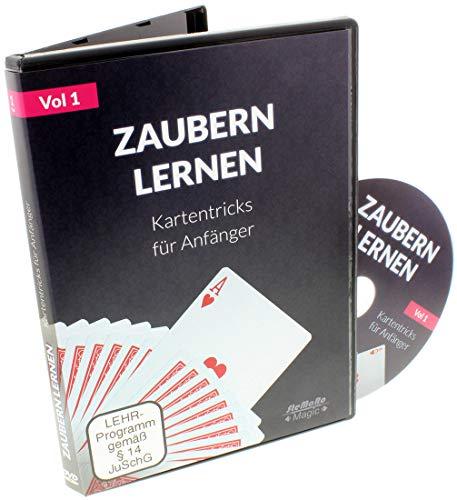 Zaubern lernen - Kartentricks für Anfänger - Lern DVD (deutsche Anleitung zu tollen Zaubertricks, besser als ein Zauberkasten)