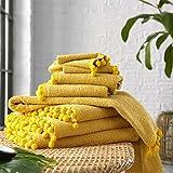 SELECT-ED® Juego de 2 toallas absorbentes de pompón, 100% algodón egipcio,...