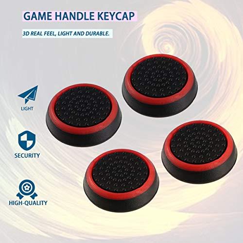 fgjhfghfjghj 4 piezas de silicona antideslizante Gamepad rayado Keycap Controller Thumb Grips cubierta protectora para PS3 / 4 para X box One / 360