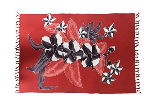 Ciffre Riesen Sarong Ca 170cm x110cm Pareo Wickelrock Wickeltuch Badeunterlage Saunatuch Schal Loop Wickeltuch Wickelkleid Handbemalt Blumen Motiv