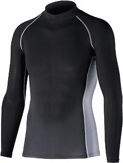 おたふく手袋 ボディタフネス 冷感・消臭 パワーストレッチ 長袖 ハイネックシャツ メンズ JW-625 ブラック L