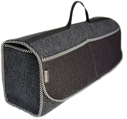 RIMERS Kofferraumtasche Grau Auto Tasche Zubehörtasche Car Boot Organiser Toolbag 50x16x21cm Klettverschluss