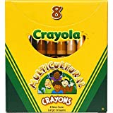 Crayola - Lápices multiculturales, 8 tonos de piel colores/caja - 52080W