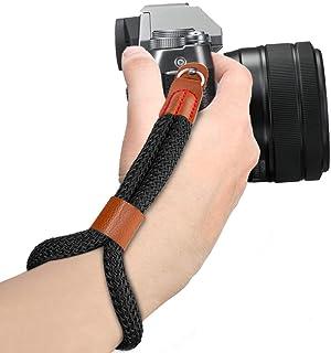 MoKo Kamera handhandledsrem, bomull justerbar kamera handgrepp rem armband stabilitet och säkerhet för Fujifilm/Nikon/Cano...
