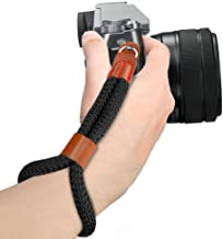 MoKo Camera Hand Wrist Strap, Cotton Adjustable Camera Hand Grip Strap Wristband Stability and Security for Fujifilm/Nikon/Canon/Sony/Olympus/Panasonic/SLR/DSLR Digital Cameras - Black