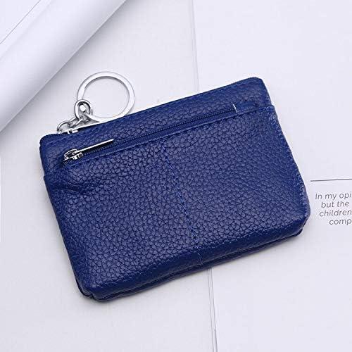 XKMY Key Wallet Popular Small Coin Purse Bus Card Bag Zipper Pocket Small Bag (Color : PURPPLE)