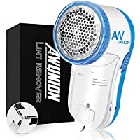 AW Union Fabric Shaver Lint Remover Remove Fuzzs Balls Pills and Bubbles for Fabric (White)