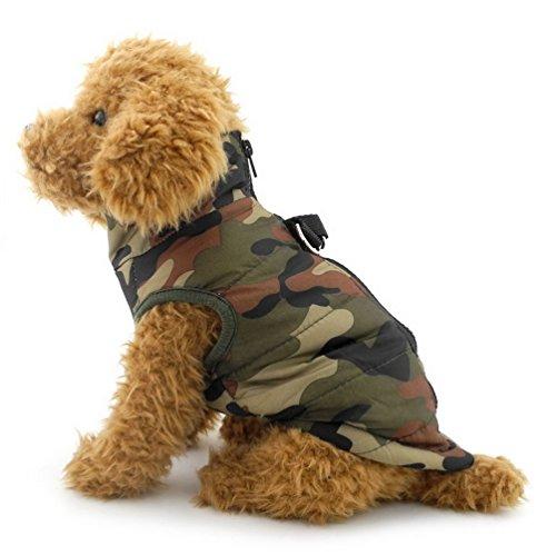 smalllee_lucky_store Hundejacke Winterjacken geschirr, Hundemantel, Weste, für kleine Katzen/Hunde/Haustiere, Winterkleidung, aumwolle gepolstert