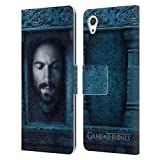 Head Case Designs Oficial HBO Game of Thrones Daario Naharis Caras 2 Carcasa de Cuero Tipo Libro Compatible con Sony Xperia X/X Dual