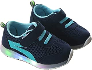 Baby Sneaker Light Up Shoes for Girls Boy Kids Breathable Light Weight LED Luminous Shoes