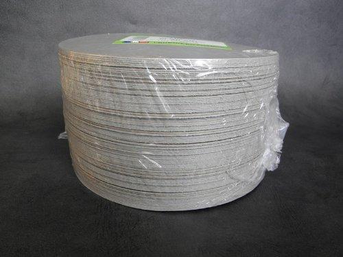 FaisTonGateau - Rond or et noir 22 cm - Lot de 100 ronds or et noir