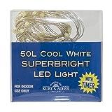 Kurt S. Adler BAT0301WW - Guirnalda de luces, color blanco