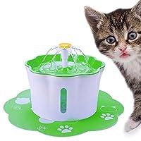 猫用水飲み場、自動シャットダウン機能付き2.6L超静音水飲み場、屋外および屋内での使用に適しています,グリーン