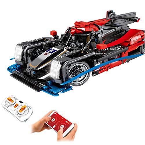 HYZM Technik Sportwagen Modell Bausteine, 1536 Teile 1/14 Ferngesteuert Rennwagen mit MotorenBausatz Konstruktionsspielzeug, Kompatibel mit Lego Technic