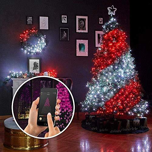 Decorazione per albero di Natale, con luci personalizzate, con telecomando, 20 m, 200 led)