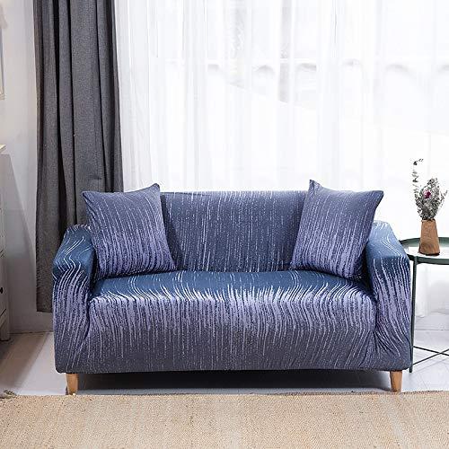 ASCV Funda de sofá de Sala de Estar de patrón Simple Floral elástico a Prueba de Polvo Funda de sofá Lavable sofá Cama A6 3 plazas