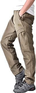 Asfixiado Women's Waterproof Hiking Pants Snow Ski Winter Windproof Softshell Fleece Lined Travel Cargo Durable Pants#6601F