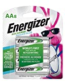 Energizer Rechargeable AA Batteries, NiMH, 2300 mAh, Pre-Charged, 8 count (Recharge Power Plus) - Packaging...