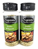 Supreme Tradition (Formerly Blazin Blends) Garlic Pepper Seasoning 12oz 2 Pack
