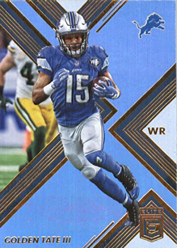 2017 Donruss Elite #33 Golden Tate Iii Detroit Lions Football Card