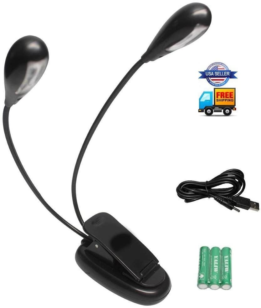 SKY Music Stand Light Clip On LED - Adjus Lamp Fully Minneapolis Mall No Max 58% OFF Flicker