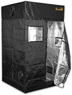 Gorilla Grow Tent | Complete Heavy-Duty 1680D Reflective Hydroponic Grow 4-Foot by 4-Foot Tent for Growing Indoor Plants with Free 1-Foot Height Extension Kit, Windows, Floor Tray