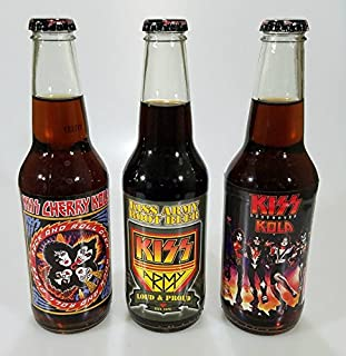 KISS Sodas 6 - 12 ounce Glass Bottles (3 Flavor Variety Pack)