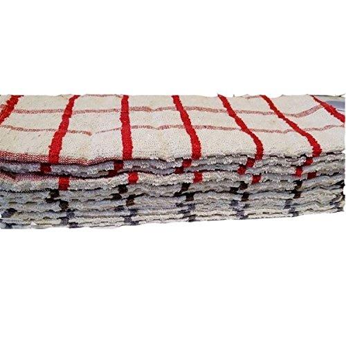 MA ONLINE Ma-Jumbo-Frottee-Handtuch 100% ägyptische Baumwolle, Küche mit Reinigungs-Handtücher, Assorted Color Pack of 12, 12er-Pack