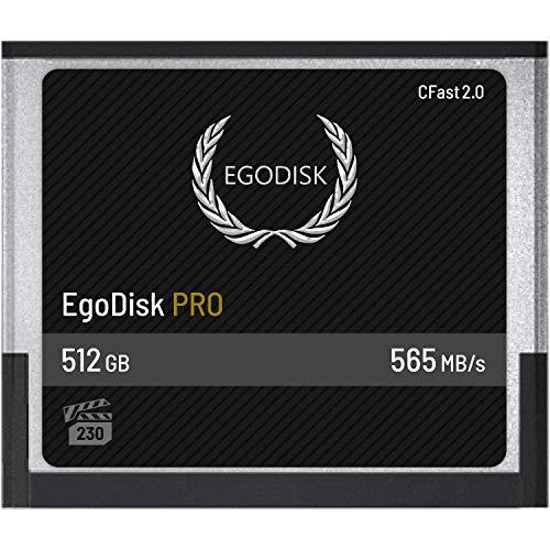 EgoDisk PRO 512GB CFast 2.0 Card - (BLACKMAGIC DESIGN URSA MINI 4K • 4.6K | CANON • XC10 • XC15 • 1DX MARK II • C200 • C300 • C700 | HASSELBLAD H6D-50C • H6D-100C | PHANTOM VEO S) - 3 Year Warranty
